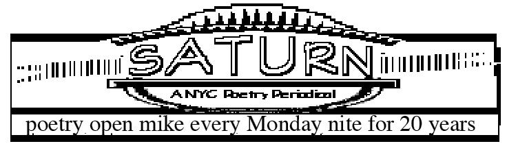 Saturn Series Poetry
